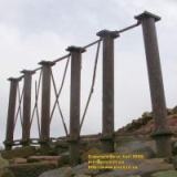 cast iron columns solway viaduct solway junction railway mars march 2008 copyright free photo royalty free photo
