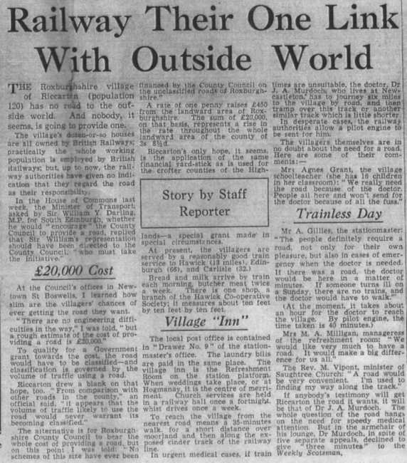 A newspaper article example