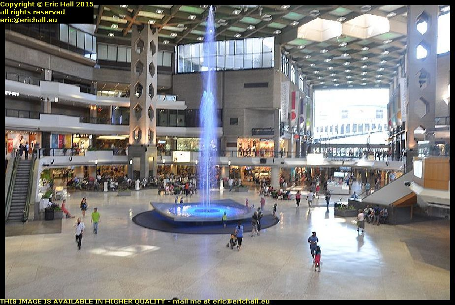 Fountain food court shopping mall rue st catherine montreal quebec canada