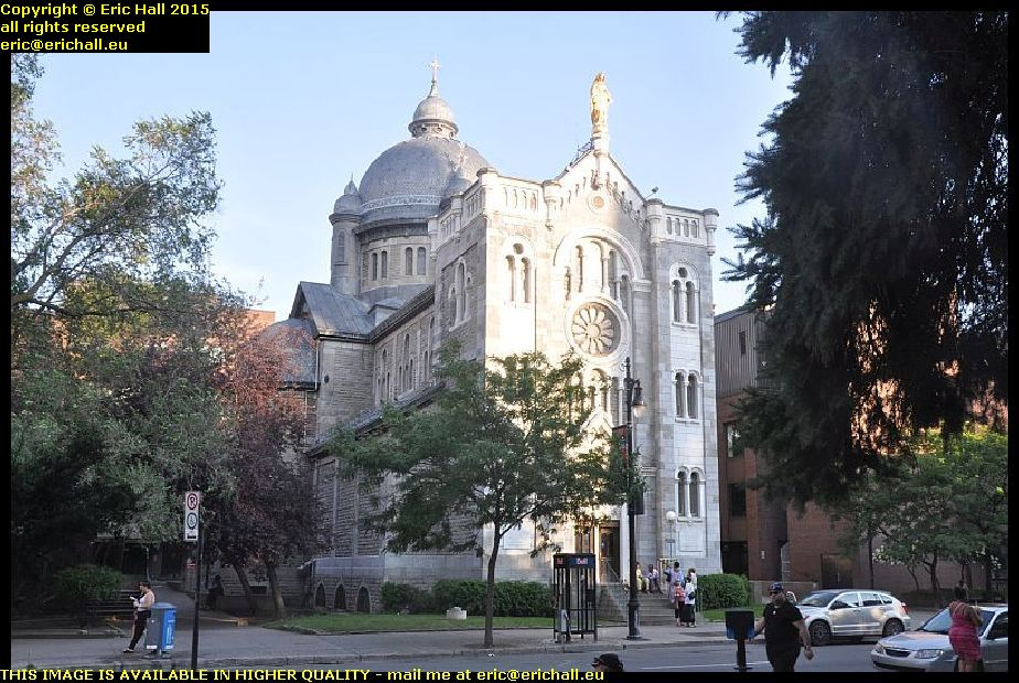 Chapel of notre dame de lourdes rue st catherine montreal quebec canada