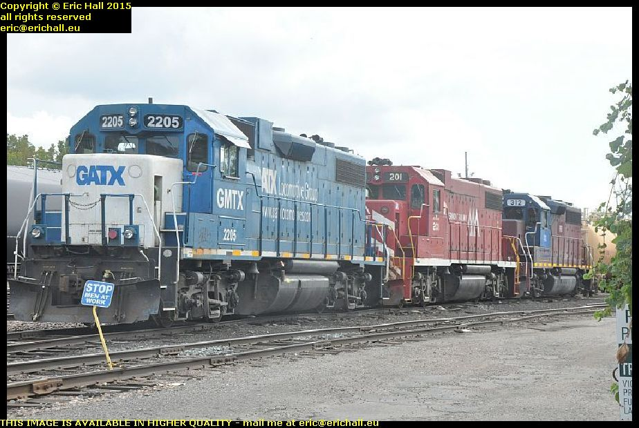 diesel locomotives railwy goods yard burlington vermont usa