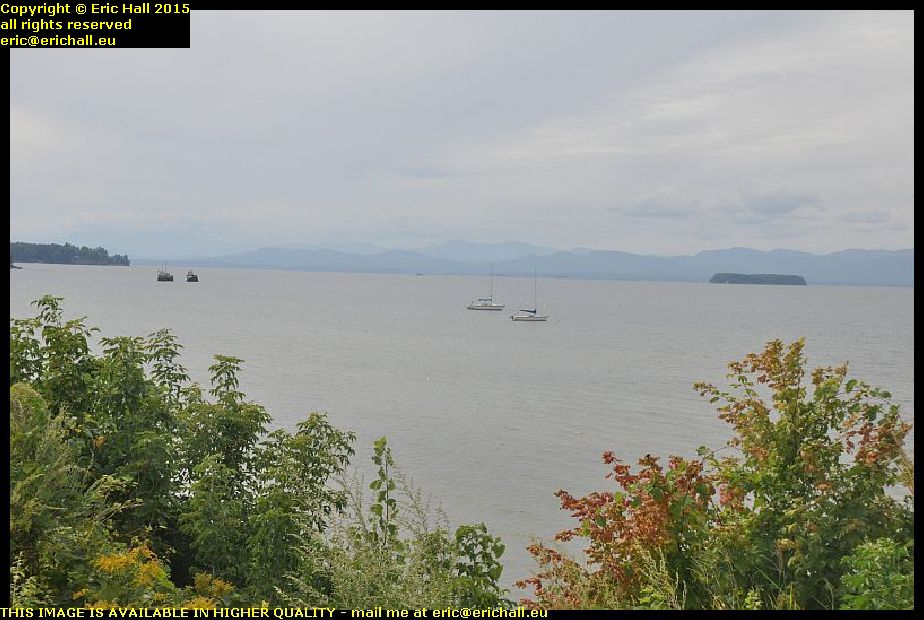 view lake champlain burlington vermont usa