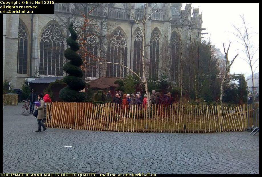 christmas decorations town square leuven belgium december decembre 2016