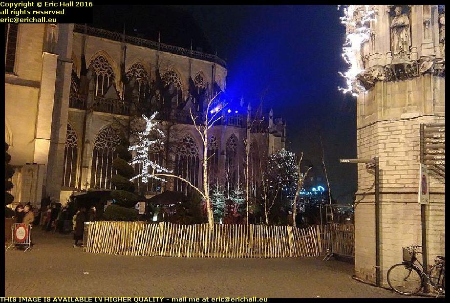 christmas illuminations leuven city centre belgium december decembre 2016