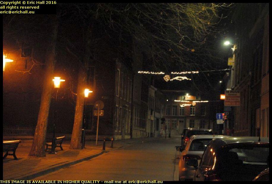 city lights christmas eve brusselsestraat leuven belgium december decembre 2016