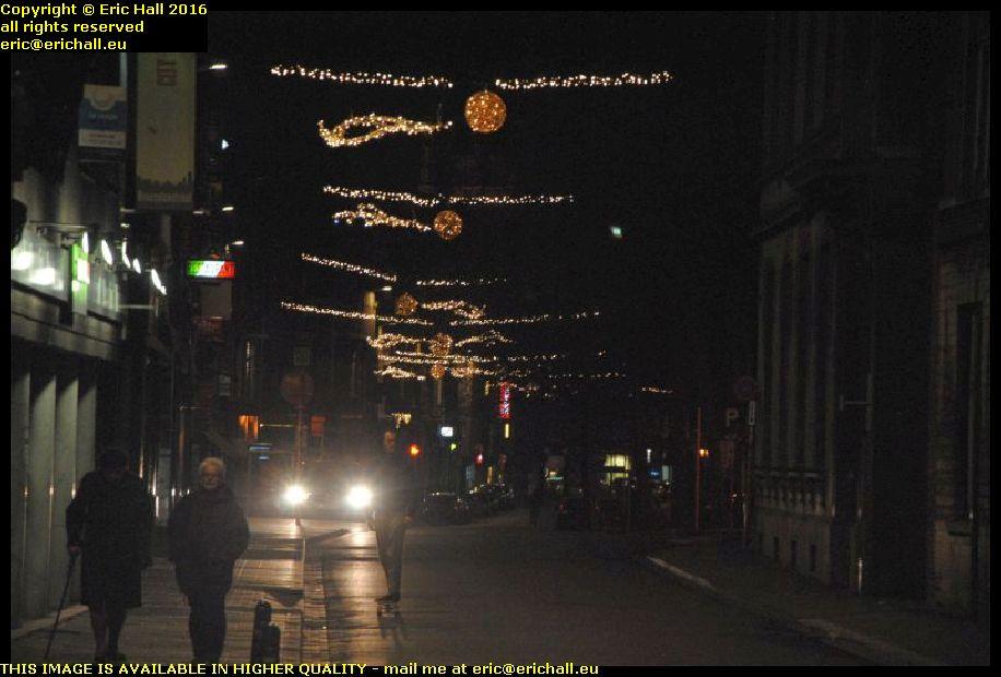 city lights christmas eve brusselsestraatleuven belgium december decembre 2016