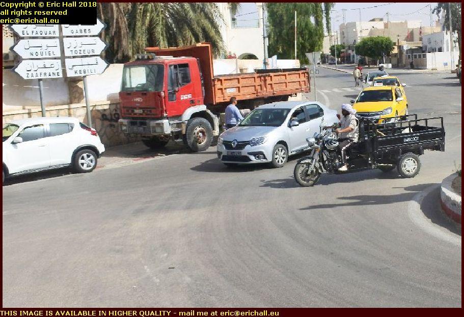 motorcycle pickup oasis of douz tunisia africa