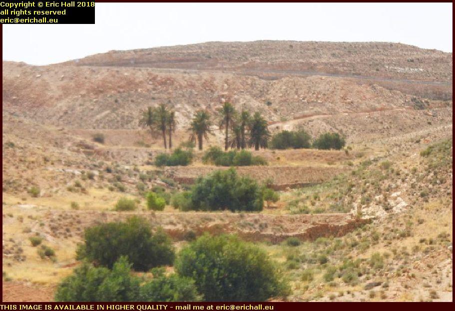 artificial terracing Djebel Dahar mountains tunisia africa