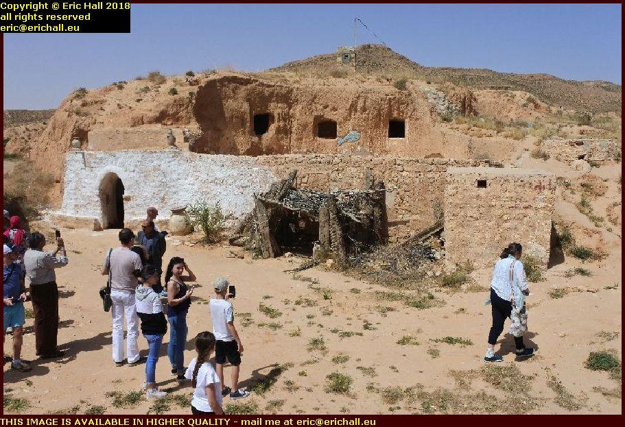 tunisian berber cliff dwelling matmata tunisia africa