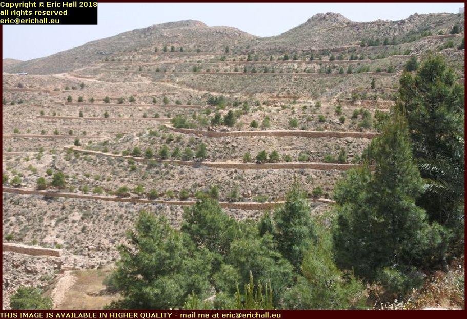 stone avalanche walls matmata tunisia africa