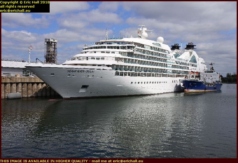 seabourn quest port de montreal harbour canada august aout 2018