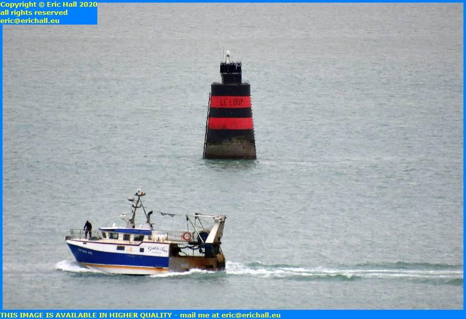 trawler baie de mont st michel entrance light port de granville harbour manche normandy france eric hall