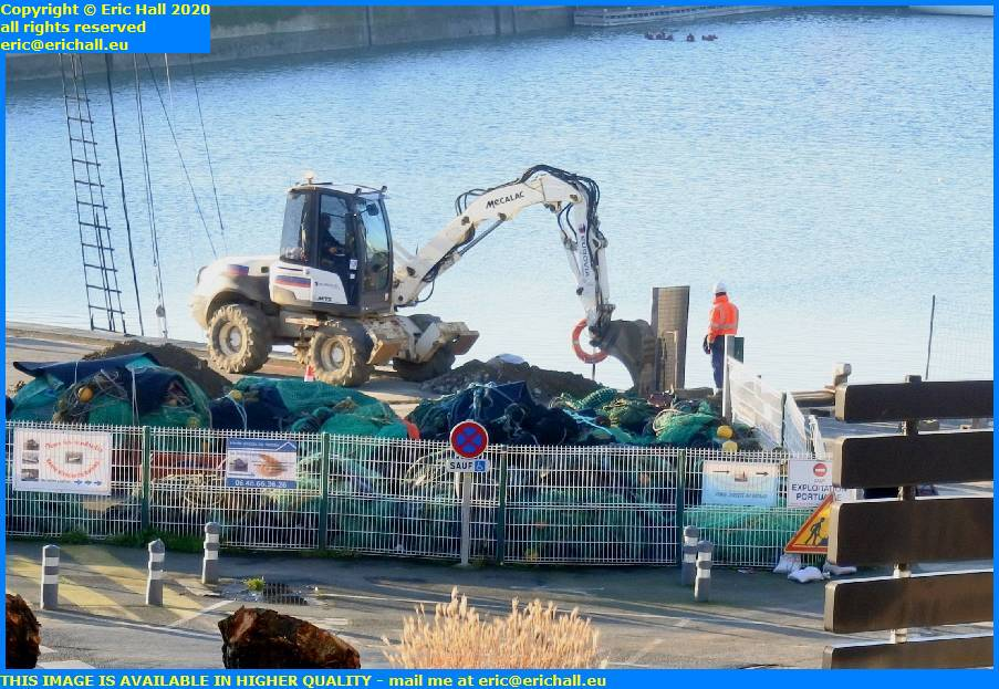 digging cable trench port de granville harbour manche normandy france eric hall