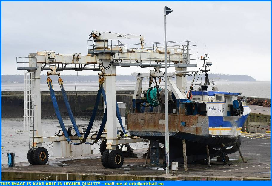 trawler chantier navale port de granville harbour manche normandy france eric hall