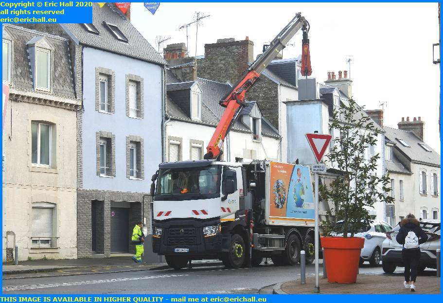 recycling lorry avenue des matignons granville manche normandy france eric hall