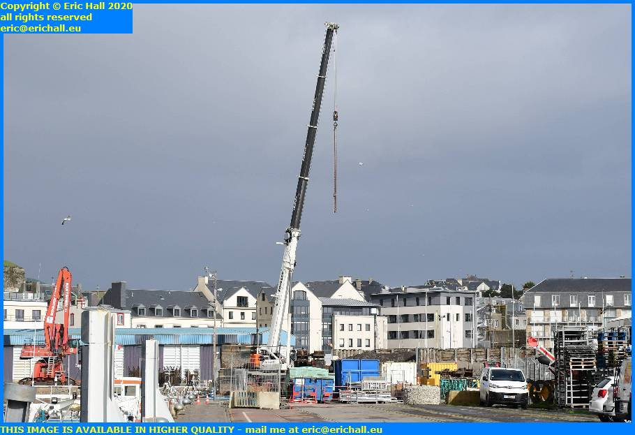 heavy crane port de granville harbour manche normandy france eric hall
