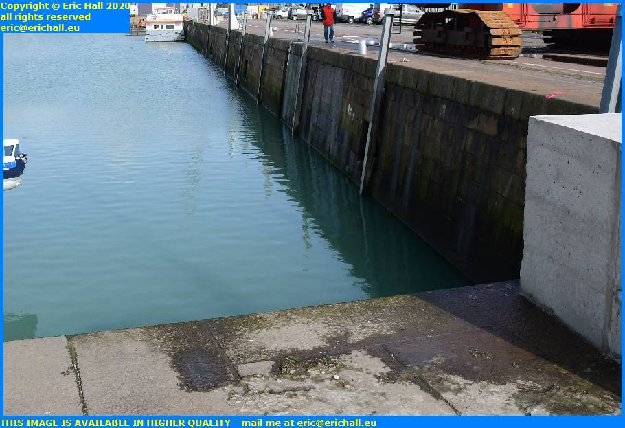 old pontoon walkway missing port de granville harbour manche normandy france eric hall