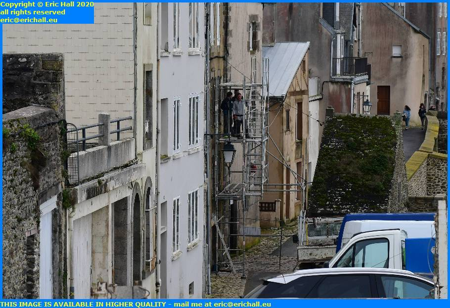 scaffolding house rue du nord granville manche normandy france eric hall