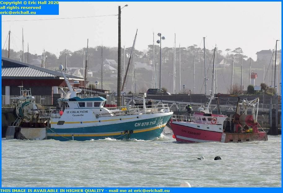 trawler coelacanthe port de granville harbour manche normandy france eric hall