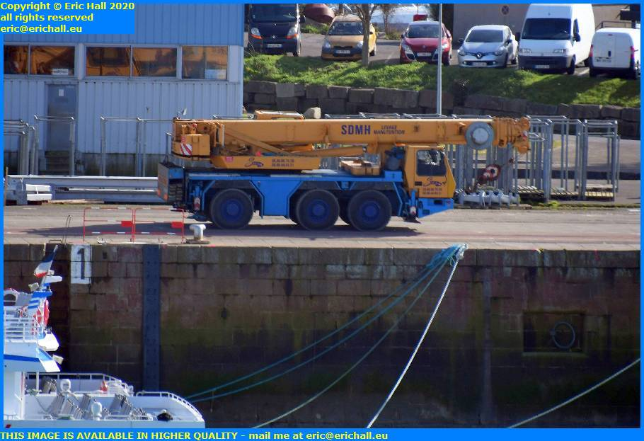 mobile crane port de granville harbour manche normandy france eric hall
