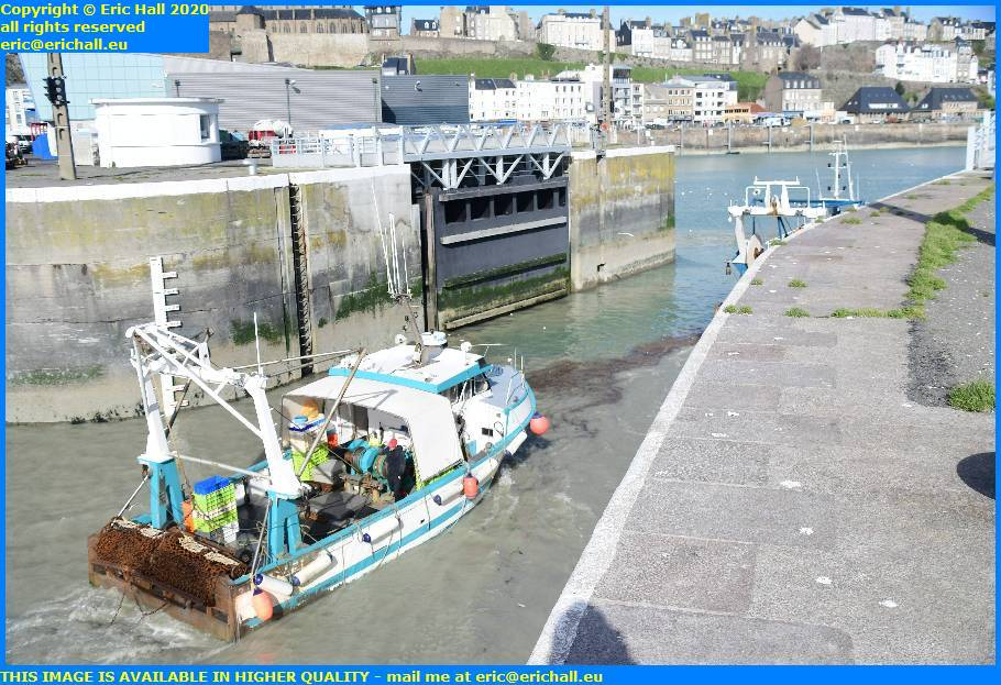 trawlers port de granville harbour manche normandy france eric hall