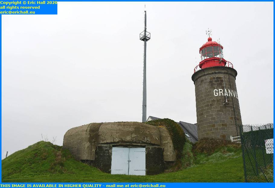 bunker atlantic wall lighthouse point du roc granville manche normandy france eric hall