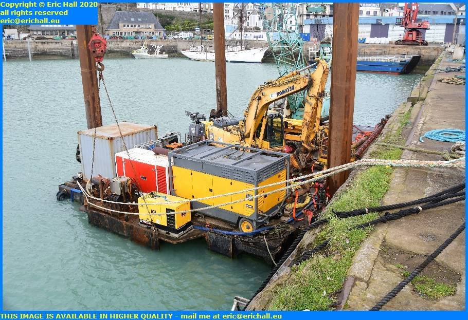 machinery pontoon port de granville harbour manche normandy france eric hall