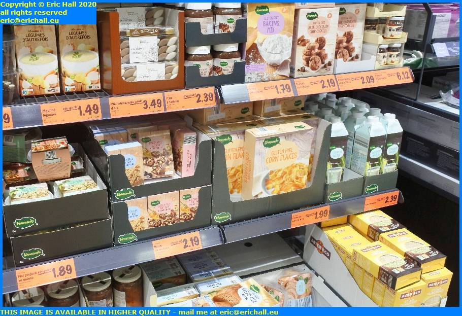 gluten free products lidl avenue aristide briand granville manche normandy france eric hall