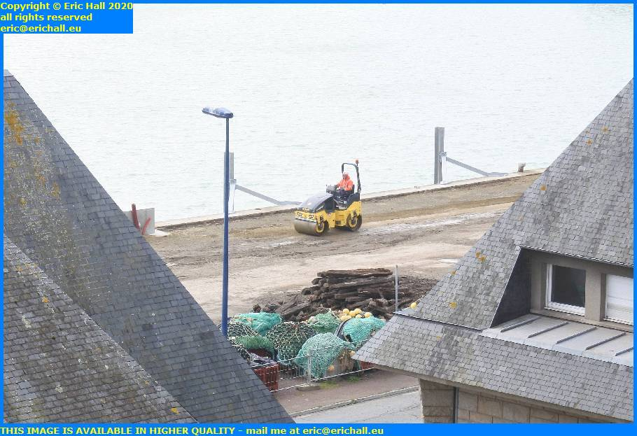 compactor parking rue du port de granville harbour manche normandy france eric hall
