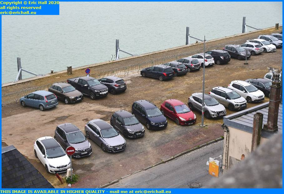 parking rue du port de granville harbour manche normandy france eric hall