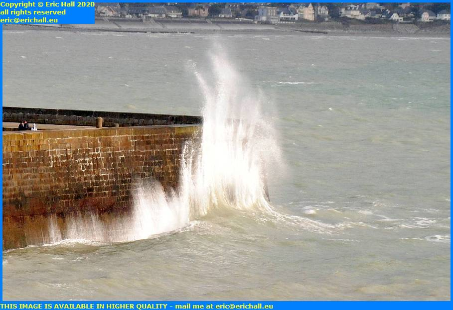 storm high winds port de granville harbour manche normandy france eric hall