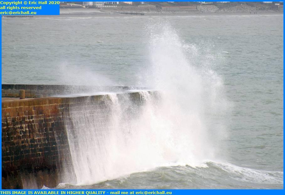 storm high winds port de granville harbourmanche normandy france eric hall