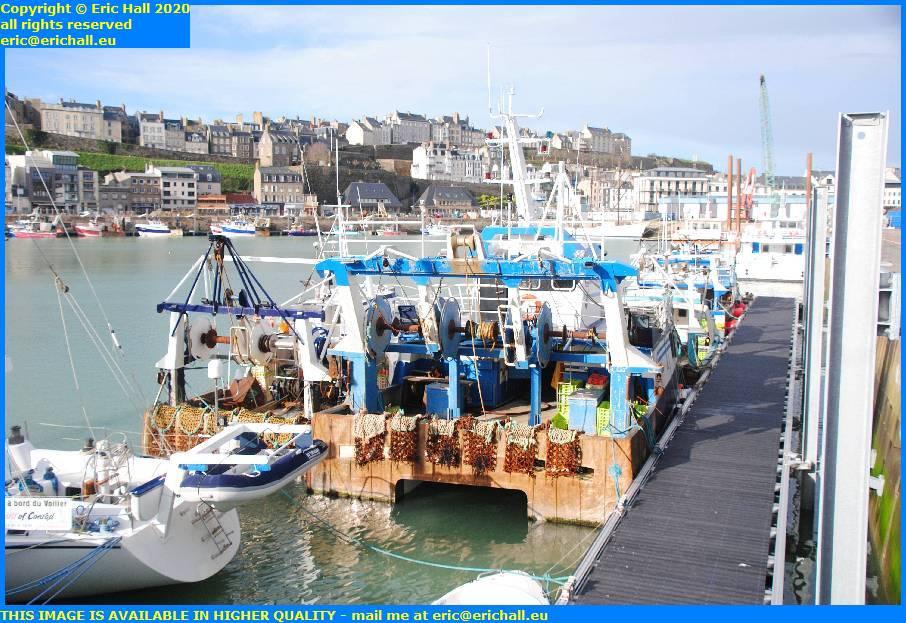 trawlers new pontoon port de granville harbour manche normandy france eric hall