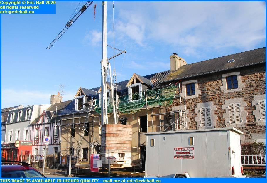 ruined house under repair avenue de la liberation granville manche normandy france eric hall