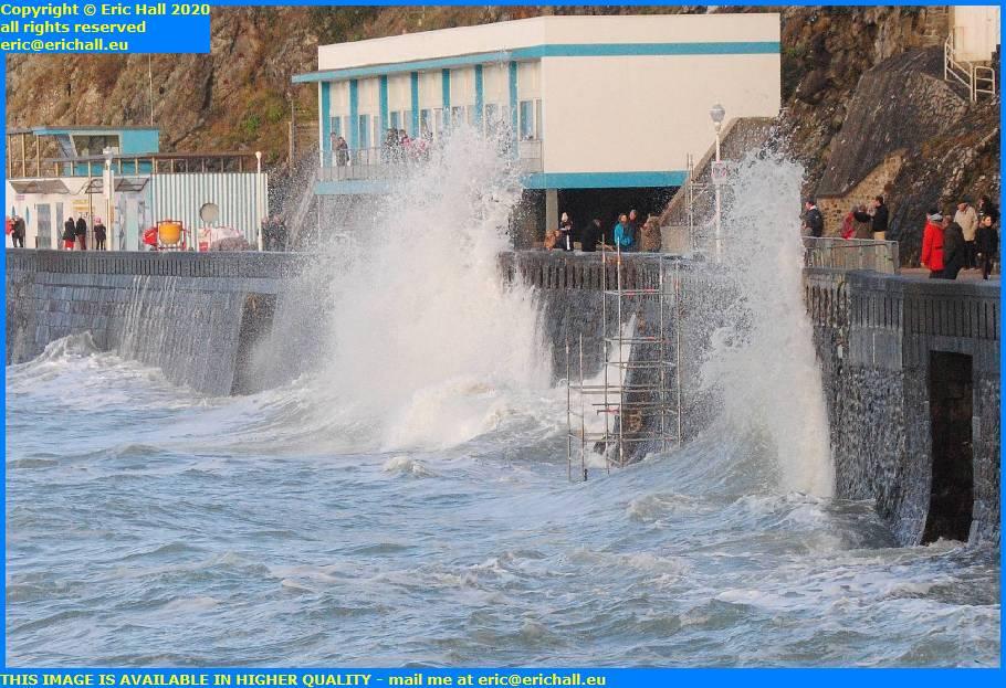 storm waves plat gousset granville manche normandy france eric hall