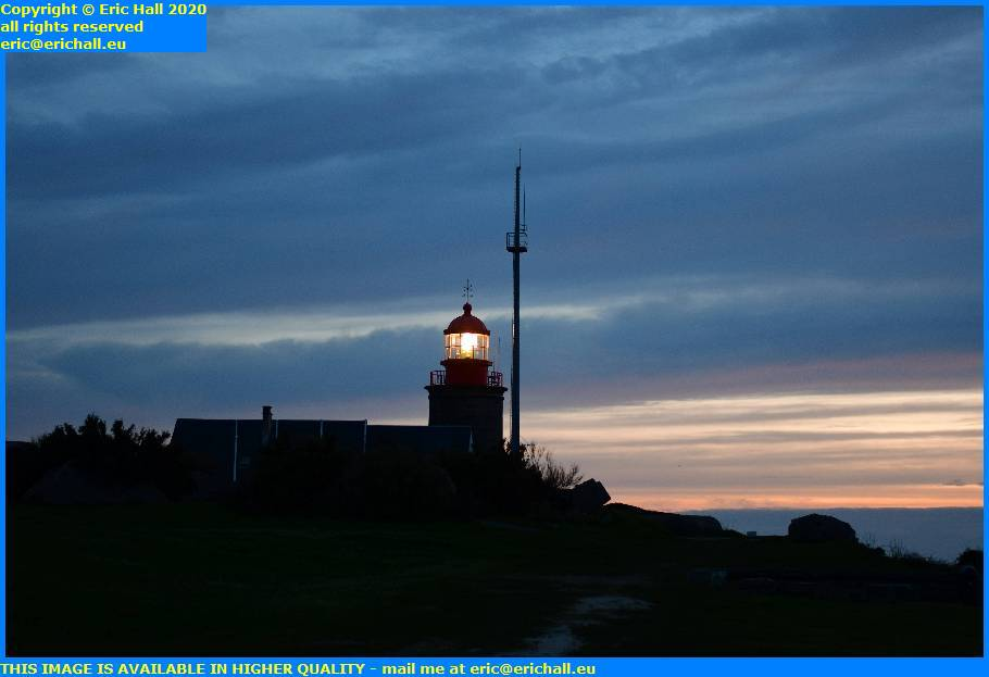 night lighthouse pointe du roc granville manche normandy france eric hall