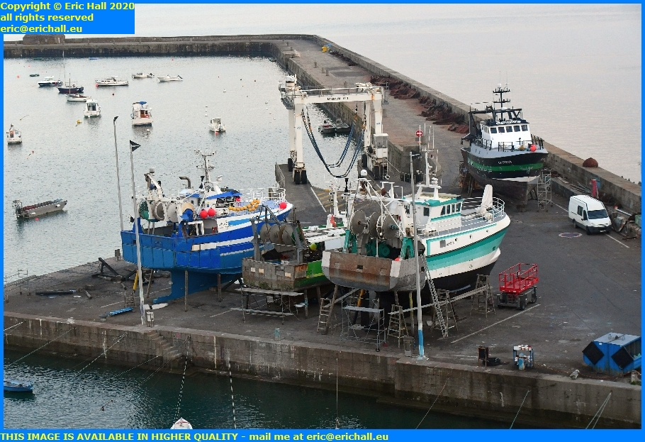 trawlers chantier navale port de granville harbour manche normandy france eric hall