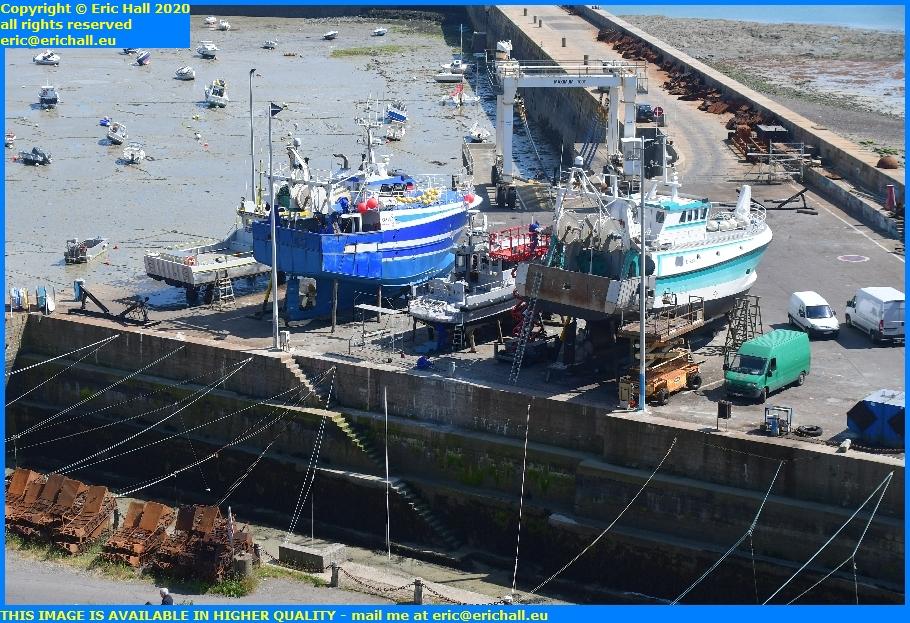 boats trawler chantier navale port de granville harbour manche normandy france eric hall