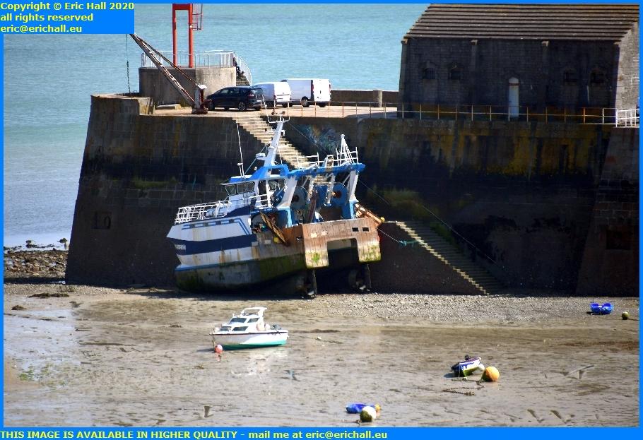 trawler beached port de granville harbour manche normandy france eric hall