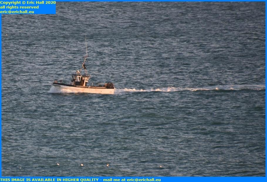 fishing boat seagulls baie de mont st michel granville manche normandy france eric hall