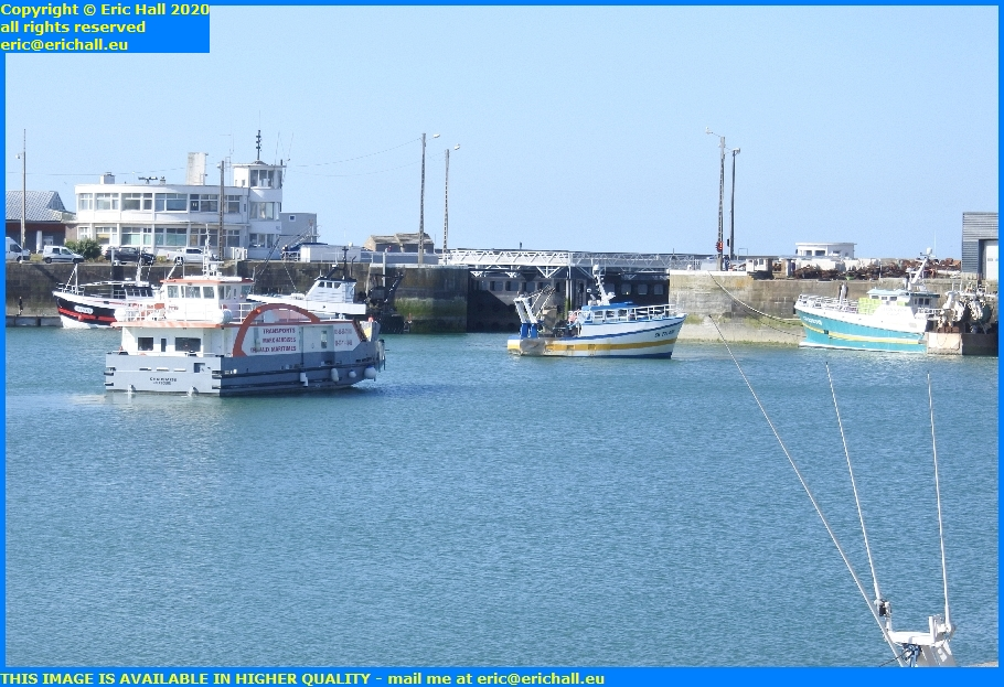chausiais trawlers leaving port de granville harbour manche normandy france eric hall
