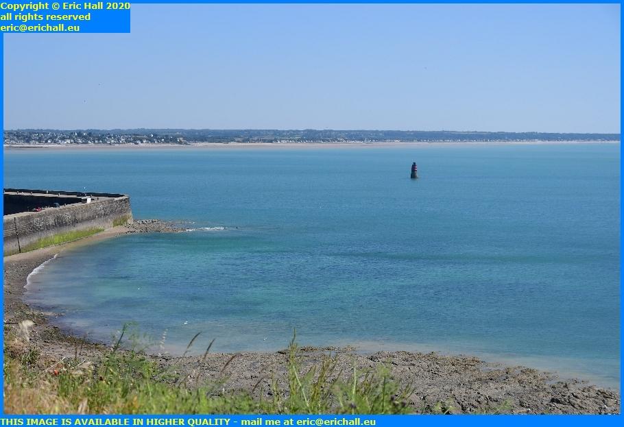 baie de mont st michel st pair sur met kairon plage marker light entrance to port de granville harbour manche normandy france eric hall