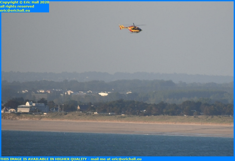 air sea rescue helicopter english channel granville manche normandy france eric hall
