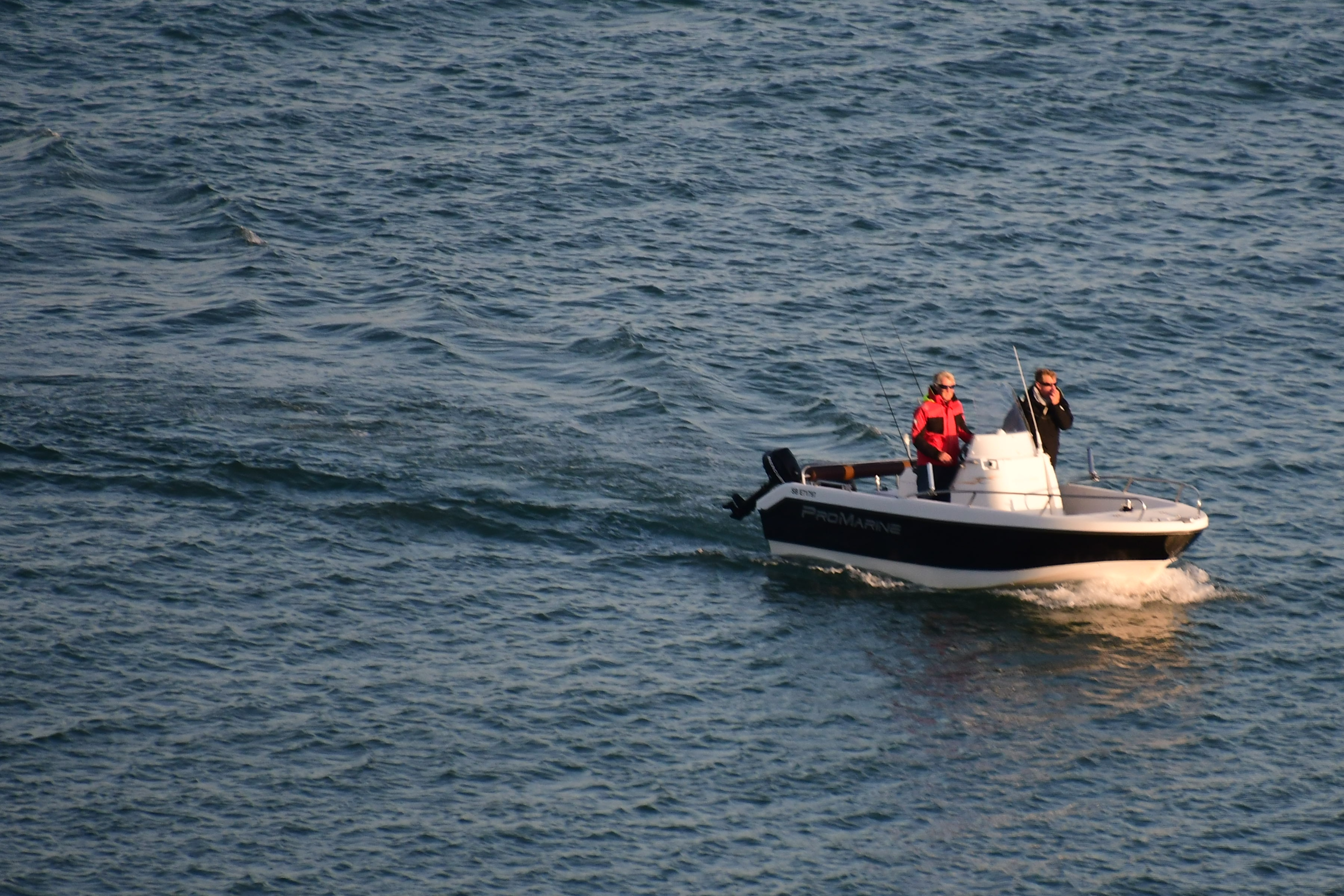 open motor launch fishing boat baie de mont st michel granville manche normandy france eric hall