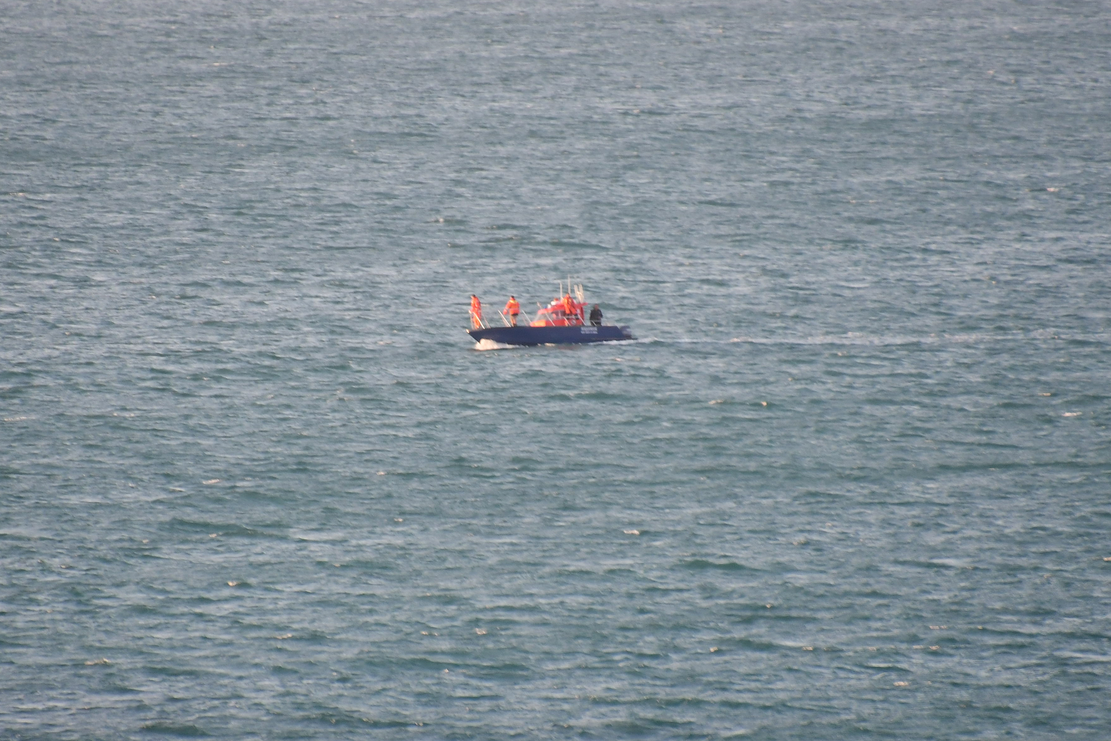 air sea rescue boat helicopter english channel granville manche normandy france eric hall