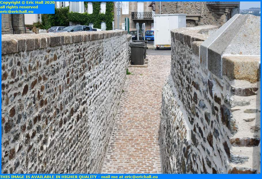 more work on medieval walls granville manche normandy france eric hall