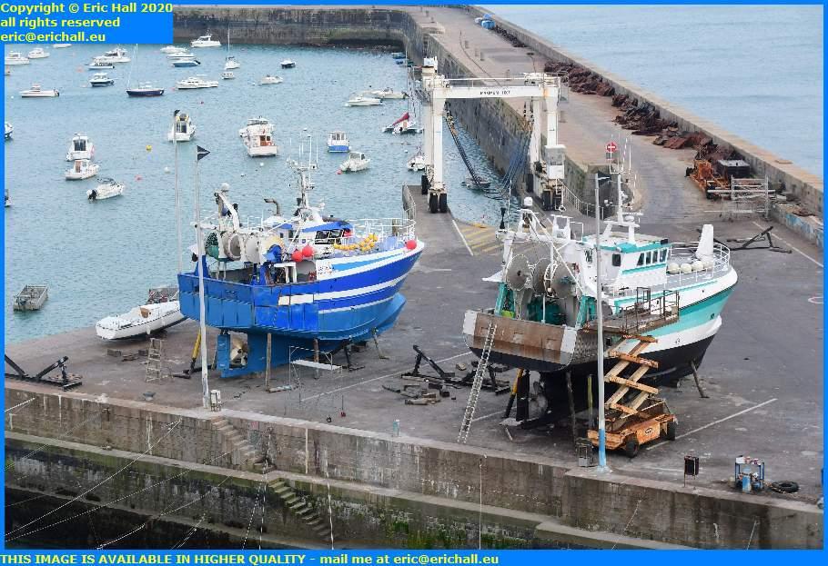 trawlers yacht chantier navale port de granville harbour manche normandy france eric hall