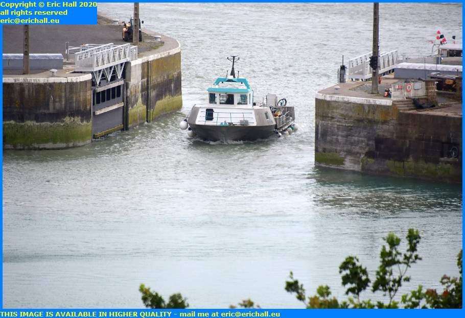 la grande ancre enters port de granville harbour manche normandy france eric hall
