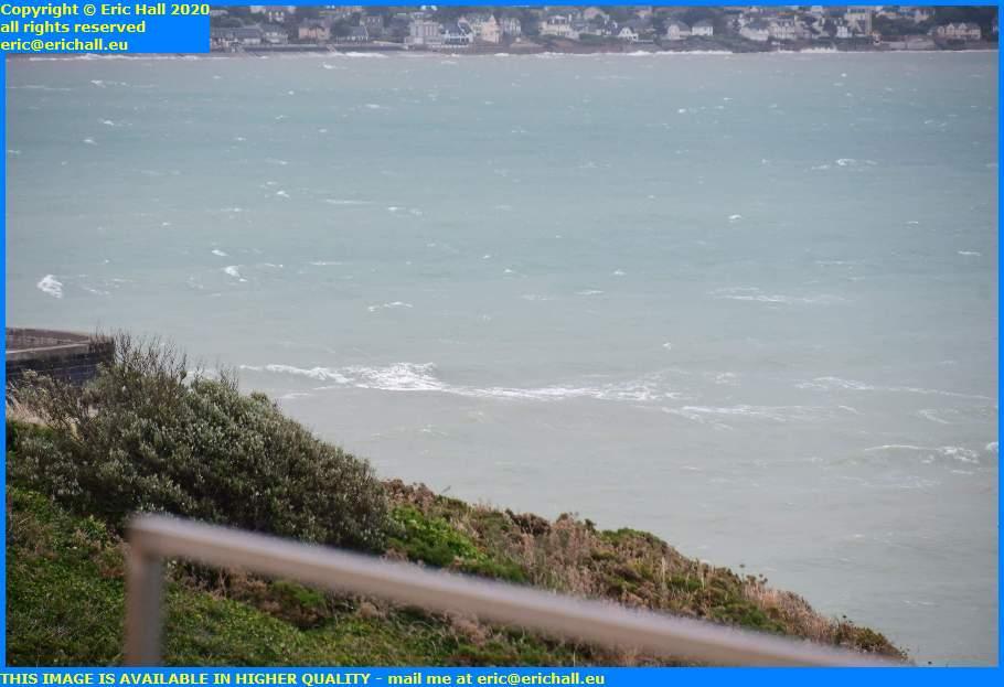 waves storm baie de mont st michel granville manche normandy france eric hall