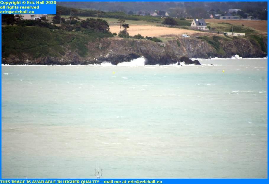 waves storm chateau de la crete granville manche normandy france eric hall